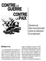 Contre la guerre, contre la paix - Eléments de lutte insurrectionnelle contre le militarisme et la répression