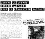 """Exposition """"Contre la guerre, contre la paix, pour la révolution sociale"""""""